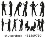 people communicating vector... | Shutterstock .eps vector #481569790