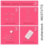 breast cancer treatment set.... | Shutterstock .eps vector #481571773