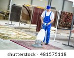 worker cleaning vacuum cleaner  ... | Shutterstock . vector #481575118