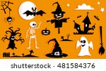 Set Of Funny Halloween Symbol....