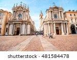 two similar churches on san... | Shutterstock . vector #481584478