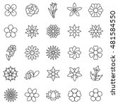 flowers linear icons set | Shutterstock .eps vector #481584550