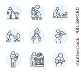 fatherhood icons set. child... | Shutterstock .eps vector #481584580