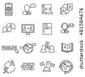 language translation icons set. ... | Shutterstock .eps vector #481584676