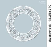 cutout paper lace frame  vector ... | Shutterstock .eps vector #481586170