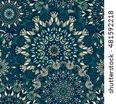tribal vector mandala. vintage... | Shutterstock .eps vector #481592218