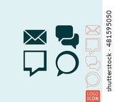 message icon. set of messages... | Shutterstock .eps vector #481595050