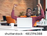 happy smiling successful... | Shutterstock . vector #481596388