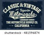 vintage motorcycle  superior... | Shutterstock .eps vector #481596874