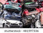 Pile Of Discarded Scrap Car On...