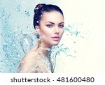 beautiful model spa woman with... | Shutterstock . vector #481600480