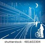 automotive flyover ... | Shutterstock .eps vector #481602304