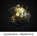 abstract 3d rendering of low... | Shutterstock . vector #481604116