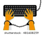 freedom of expression is banned ... | Shutterstock .eps vector #481608259