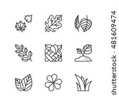 thin line icons set about... | Shutterstock .eps vector #481609474