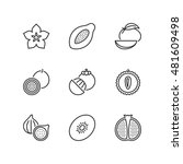 thin line icons set about... | Shutterstock .eps vector #481609498