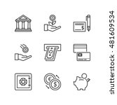 thin line icons set about... | Shutterstock .eps vector #481609534