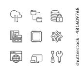 thin line icons set about... | Shutterstock .eps vector #481609768