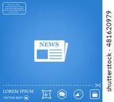 flat icon of news | Shutterstock .eps vector #481620979