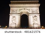 the famous arc de triomphe in... | Shutterstock . vector #481621576