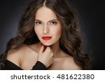 very beautiful glamor girl with ... | Shutterstock . vector #481622380