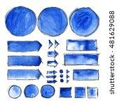 illustration of watercolor... | Shutterstock . vector #481629088