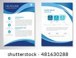vector brochure flyer design... | Shutterstock .eps vector #481630288