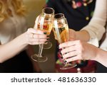 hands holding the glasses of... | Shutterstock . vector #481636330