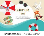 summertime traveling template... | Shutterstock .eps vector #481638340