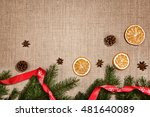 christmas decoration background ... | Shutterstock . vector #481640089