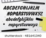 calligraphic vector script font.... | Shutterstock .eps vector #481641340