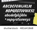 hand drawn abc set. brush... | Shutterstock .eps vector #481641868