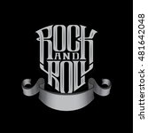 rock music print  hipster... | Shutterstock .eps vector #481642048