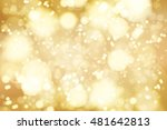 vector golden bokeh background. ... | Shutterstock .eps vector #481642813