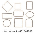 set frames .brown on white... | Shutterstock .eps vector #481649260