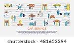 car service elements  line... | Shutterstock .eps vector #481653394