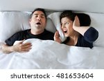 woman  age 30 40  suffers from... | Shutterstock . vector #481653604