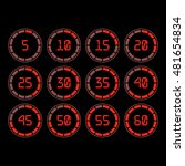 digital countdown timer with... | Shutterstock .eps vector #481654834