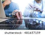 medical technology network team ... | Shutterstock . vector #481657159