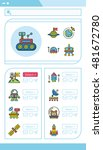 icon set space vector | Shutterstock .eps vector #481672780