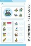 icon set space vector | Shutterstock .eps vector #481672780