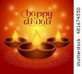 illustration for diwali... | Shutterstock .eps vector #481674550