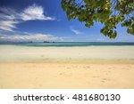 beautiful tropical beach sea... | Shutterstock . vector #481680130