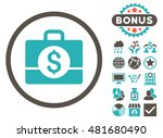accounting case icon with bonus.... | Shutterstock .eps vector #481680490