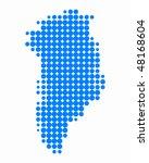 map of greenland | Shutterstock .eps vector #48168604