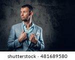 portrait of fashionable male in ... | Shutterstock . vector #481689580