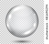 big translucent gray sphere... | Shutterstock .eps vector #481690294