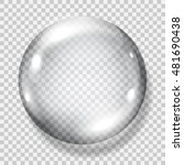big translucent gray sphere... | Shutterstock .eps vector #481690438