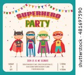 superhero kids boys and girl.... | Shutterstock .eps vector #481697590