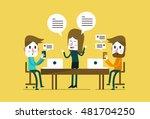 executive woman presentation... | Shutterstock .eps vector #481704250